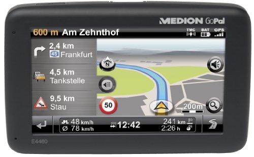 Medion Gopal E4460 EU+ Tragbares Navigationssystem (10,9 cm (4,3 Zoll) Touchscreen, Kartenmaterial EU, TMC Pro, Clever Routes)