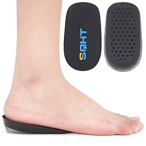 "SQHT's Height Increase Insole - Gel Heel Shoe Lift Inserts, Achilles Tendon Cushion for Men and Women (Large (1"" Height))"