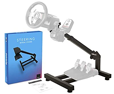 Racing Steering Wheel Stand Gaming Simulator Cockpit with Gear Shifter and Pedal Mount Compatible with Logitech Thrustmaster Fanatec Wheels Height Adjustable Easy Storage Gift box