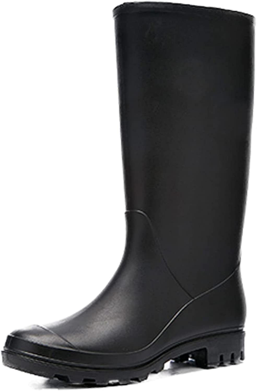 Rain Boots for Women Waterproof - Non-Slip Rubber Boots Comfortable Easy Wash Garden Boots Solid Mid-Calf Rainboots Prevent Slippery and Durable Outdoor Work Shoes