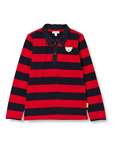Steiff Jungen Poloshirt Langarm, Rot (Tango RED 4008), 098