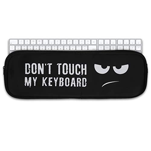 Preisvergleich Produktbild kwmobile Tastatur-Hülle kompatibel mit Apple Magic Keyboard mit Ziffernblock - Neopren Schutzhülle Case Tasche für Tastatur - Don't Touch My Keyboard Weiß Schwarz