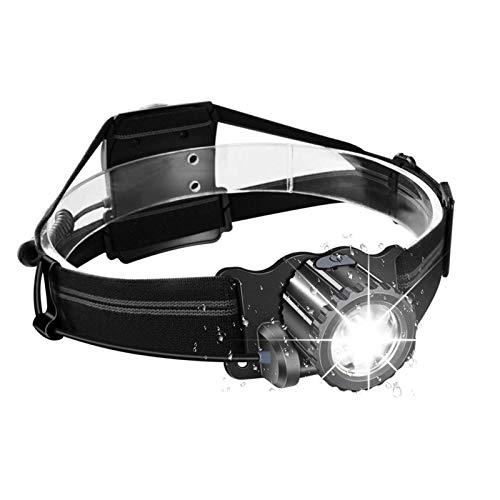 WARSUN LED Headlamp, USB Rechargeable Headlamp Flashlight, Bright Comfortable Adjustable USB Flashlight,Waterproof Headlamp for Mechanic Running Fishing Hunting Farm Work Skiing Hiking