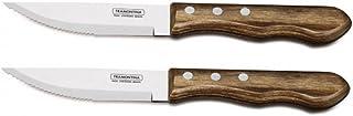 Tramontina Churrasco - Cuchillo para carne (mango marrón, 12,7 cm)