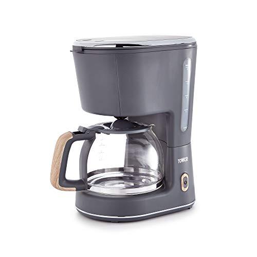 Tower Scandi, 10-Cup Filter Coffee Machine, Keep-Warm Function, 900W,...