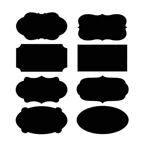 MINGZE 80 Stuks Krijtbord Stickers, Schoolbord Sticker Etiketten Blackboard Labels Krijt Bord Stift Herbruikbare Waterdicht Potlabels Vriezer Fles Spice Stickers Voor Keuken Terras Koelkast Feesten