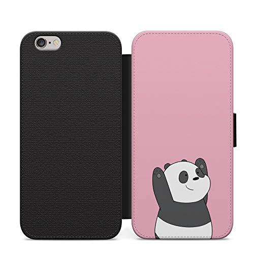 Funda de piel con tapa para Google Pixel 1, diseño de panda, color rosa