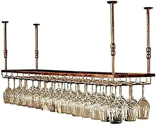 QDY Suporte para vinho Suporte para vinho de teto, Bar, Restaurante, suspensão, suporte para Copo de vinho, suporte para garrafa de vinho de teto Suporte de Metal para talheres de Ferro Cáli