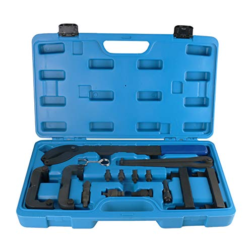 MRCARTOOL Motor Nockenwellenausrichtungswerkzeug Zahnriemenverriegelungswerkzeugsatz Kompatibel mit VW Audi 2.4 2.8 3.2 4.2 3.0T OEM T40133 T40070