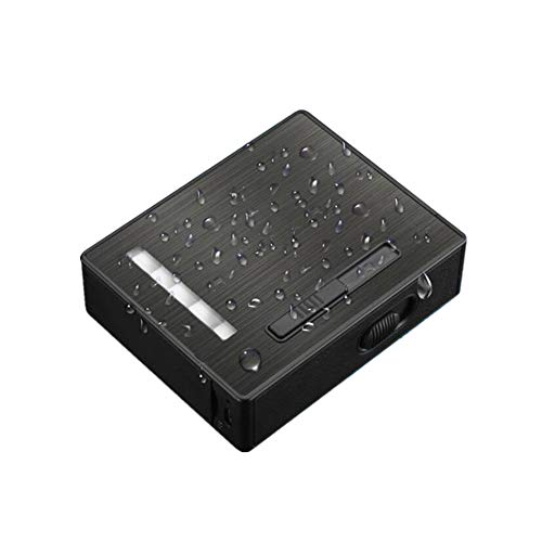 Cargador USB Encendedor de Arco y Estuche de Cigarrillos Estuche para Cigarrillos...