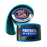 """Thorn Buster, Tube Protector, Bicycle Tire Liner - Stop Flats - Hybrid Bikes - Blue 26 x 1 3/8"""" / 24 x 1 3/8"""" / 700c x 25 Bike Tires w/Hard Durometer Center Strip (1 Liner)"""