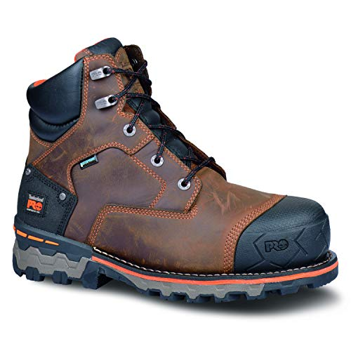 Timberland PRO Men's Boondock 6' Waterproof-M, Brown Oiled Distressed, 10.5 M US