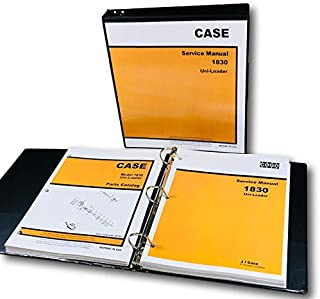 Case 1830 Uni Loader Skid Steer Technical Service Manual Parts Catalog Shop Set