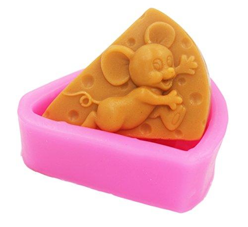 LC Maus-Silikonformen für handgefertigte Seife, Seife, DIY-Form, Kuchenformen