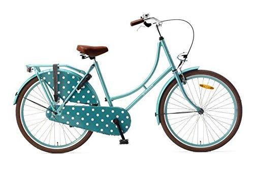 Popal Omafiets OM26 Vélo hollandais pour femme 66 cm (26'), Femme, bleu