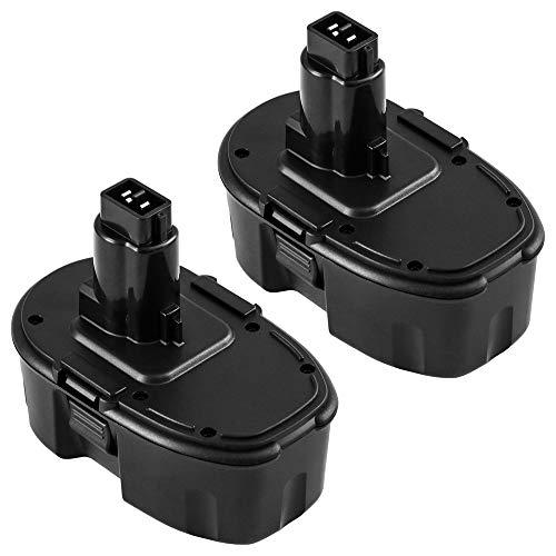 2 Pack Replace for Dewalt 18V XRP Battery DC9096 DC9099 DC9098 DW9099 DW9098 Compatible Replacement Cordless Power Tools 2000mAh Batteries
