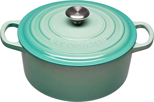 Le Creuset Signature Enameled Cast-Iron Round French (Dutch) Oven (4.5 Quart, Cool Mint)