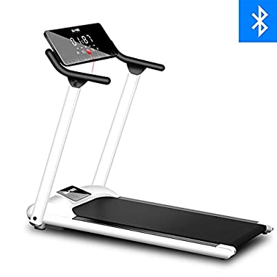 HSART Electric Treadmill, Folding Walking Jogging Machine with LED Display, Bluetooth Speaker, Security Lock, Cardio Training Exercise Trainer for Home/Gym