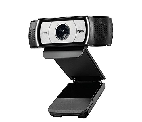 Logitech C930e Business-Webcam, Full-HD 1080p, 90° Blickfeld, 4-fach Zoom, Autofokus, RightLight 2-Technologie, Abdeckblende, Für Skype Business, WebEx, Lync, Cisco, etc., PC/Mac/ChromeOS - Schwarz
