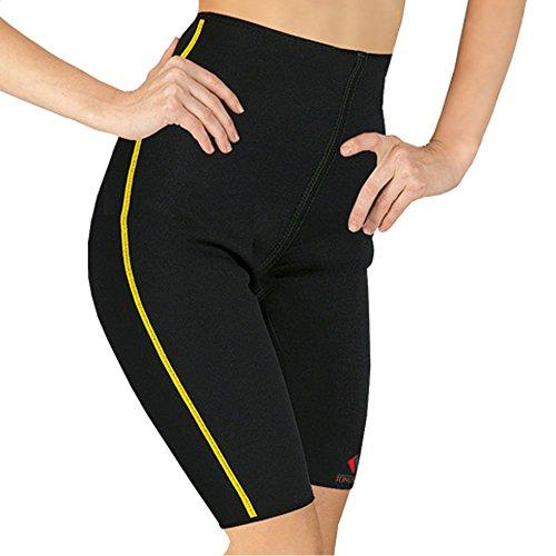 Shorts mit Wärme-Effekt, Formende Taillenhose aus Neopren, Fitnesshose, Sport Thermohose (XL)