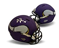 Justin Jefferson Autographed Minnesota Vikings Signed NFL Speed Football Mini Helmet Beckett BAS COA