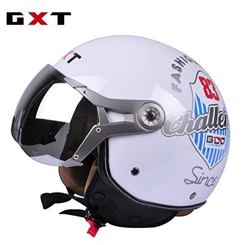 Mdsfe Mezzo casco per motociclo elettrico mezzo casco semicoperto Prince casco per casco moto retrò uomo e donna stagionicasco dooa
