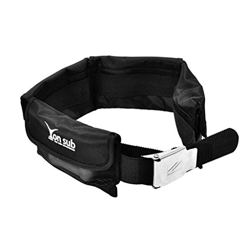 MagiDeal Tauchgewicht Gürtel Bleigürtel Tauchgürtel mit Tasche für Tauchen Schnorcheln - Schwarz
