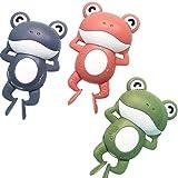 3Pack Aufziehbadespielzeug, Wasserspielzeug Schwimmfrosch Schöner Badefrosch Aufziehuhrwerk Frosch Duschspielzeug Schwimmspielzeugspiel für Jungen Mädchen Kind