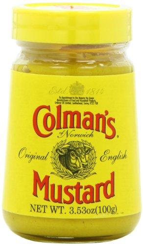 Colman's Prepared Mostaza, 3.5 onzas, paquete de 6