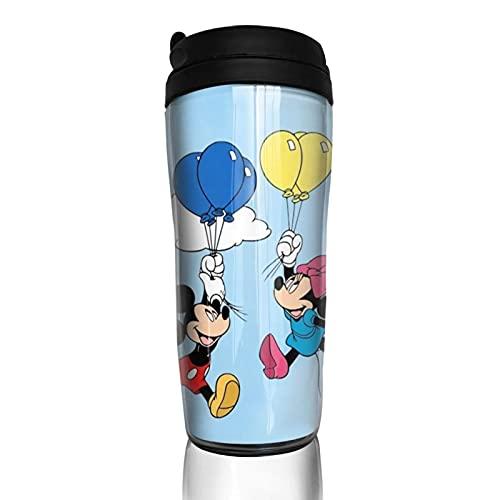 Mickey Minnie Mouse Cartoon Anime Taza de café Hombres Mujeres Aislamiento Agua Copa Viajes Oficina Obras al aire libre Novedad Regalo de cumpleaños 12 oz Capacidad
