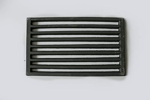Gussrost 29x18cm aus hochwertigen Guss passend für viele Kamine, Kamineinsätze und Öfen
