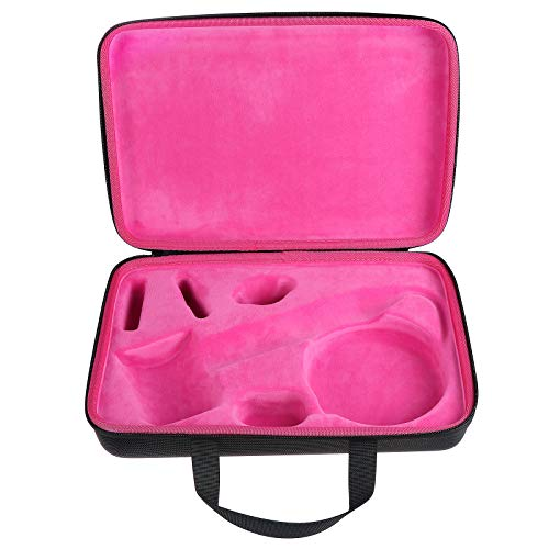KEESIN Hair Curler Protective Case, Travel Storage Case Compatible with Dyson Airwrap Styler and accessories (Black+rose red)