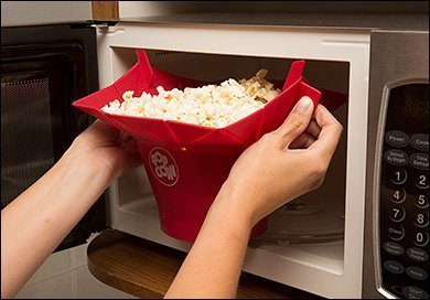 Sevia Microwave Popcorn Popper, Silicone Popcorn Maker, Collapsible Bowl BPA Free (Multi Color)