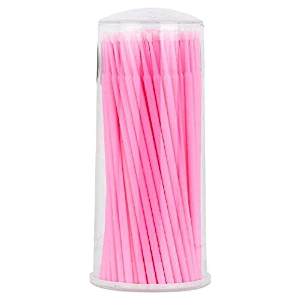 複数フルーティー情熱的大広間および家の使用のために適した100部分の使い捨て可能なまつげ延長ブラシ (ピンク)