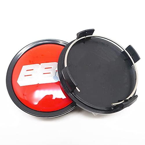 LINMAN 4 unids 74mm 70mm Wheel Center Caps Caps Coche Estilismo Emblema Insignia Logo Llantas Cubierta 65mm Pegatinas (Color : E)