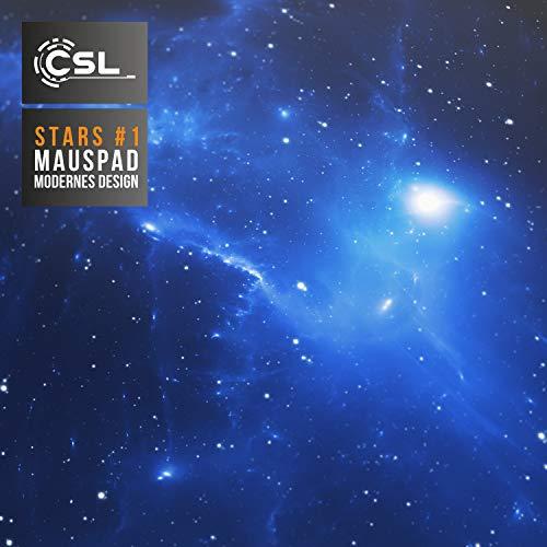 CSL - XXL Mauspad Gaming 900x400 mm - XXL Mousepad groß mit Motiv - Tischunterlage Large Size - verbessert Präzision und Geschwindigkeit - auch für Roccat Razer Logitech Maus und Tastatur - Space