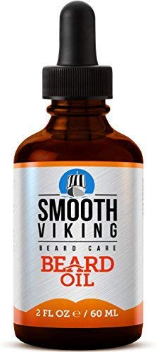 Smooth Viking Beard Oil for Men, Conditions and Promotes Growth for Soft and Itch Free Facial Hair,...