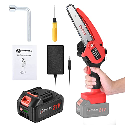 Mini Chainsaw Cordless 6-inch Handheld Upgrade Small Battery Powered Pruning Saw Electric Portable...
