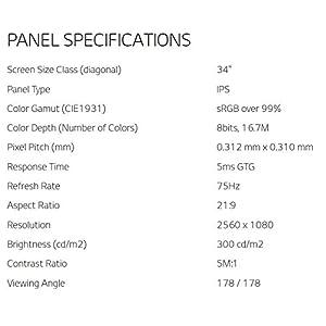 LG 34UM68-P 34-Inch 21:9 UltraWide IPS Monitor with FreeSync