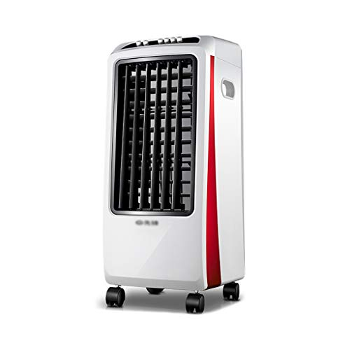 Air coolers Evaporative Coolers Portable Conditioner Unit Airconditoner Super 3 Fan Speed Quiet Humidifier Misting Fan For Home Office Bedroom(White + Red)