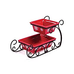 A tray that looks like a red sleigh