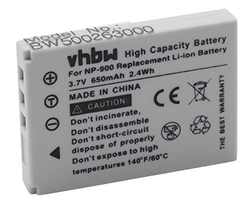 vhbw batería reemplaza Konica Minolta NP-900 para cámara (800mAh, 3,6V, Li-Ion)