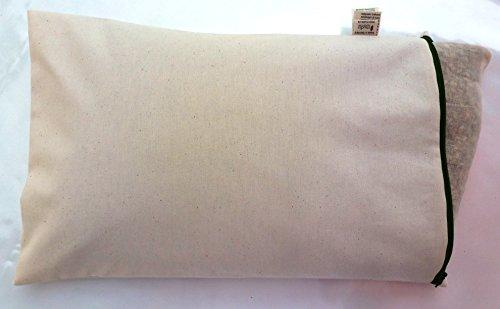mudis Naturkissen&mehr Nackenkissen-Reisekissenm,20x50cm,100% Bio Dinkelspelz,mit abnehmbaren waschbares 100% Bio Baumwolle-Inlett