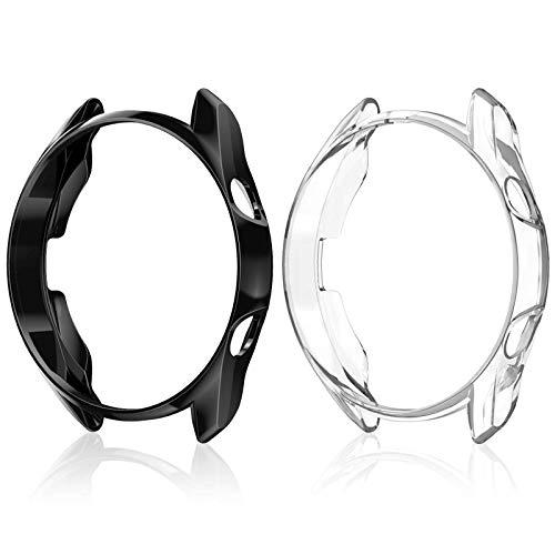 CAVN Custodia Compatibile con Samsung Galaxy Watch 3 45 mm Custodia, [2 pezzi] Custodia Protettiva in TPU Resistente ai Graffi con Cornice in TPU Guscio per Galaxy Watch 3 45 mm