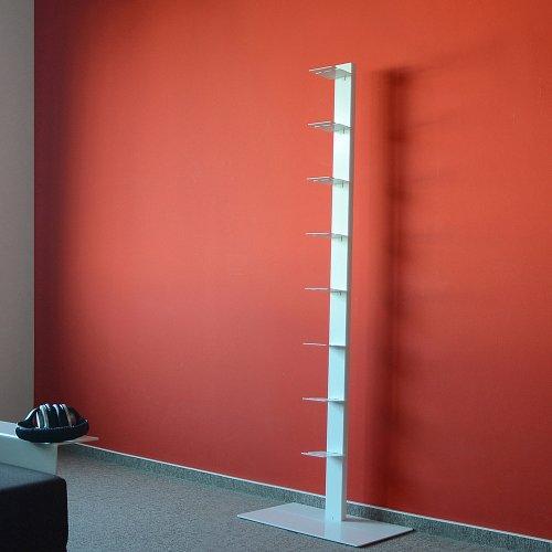 Radius Design booksbaum Single Stand Gross weiß, 3tlg. Best.aus: Halterung + Fuß + Einlegeböden