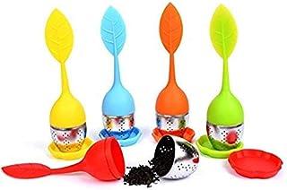 HelpCuisine infusor de te/infusionador/colador te/filtro te/infusores de te, hecho de silicona 100% alimentaria libre de BPA, infusor en forma de hoja de Té! (juegos de 5 infusores)