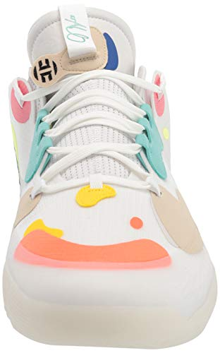 adidas unisex adult Harden Volume 5 Basketball Shoe, Crystal White/White/Team Royal Blue, 9.5 Women Men US
