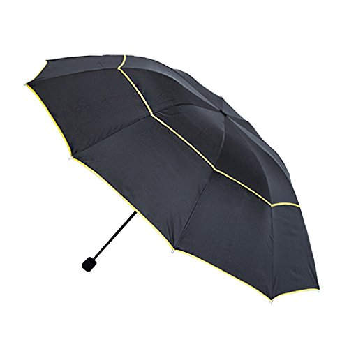Lowest Price! ChuWen Golf Umbrella 62Inch Large Oversize Windproof Waterproof Rain&Wind Resistant Ve...