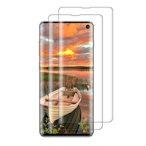 XSWO 2 Pièces Verre Trempé pour Galaxy S10, Vitre Protection Samsung S10 [3D Couverture Complète] [Pose Facile] [Dureté 9H] [sans Bulles] Film Protection d'écran Samsung Galaxy S10