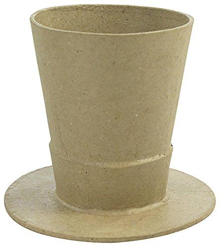 Décopatch - vaas hoed karton bruin waterdicht, ac797 C, 10,5 x 10,5 x 9,5 cm